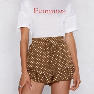 Nastygal polka dot shorts
